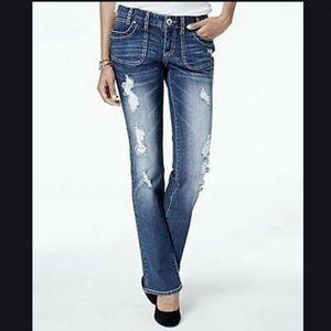 Ariya Mendoza Destroyed Curvy Blue Jeans 15/16